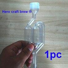Высокое качество S пузырь самогон воздушный замок для пивоварения, дополнительный ингредиент для брожения с Кепки