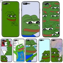 Mobile Phone Case TPU for iPhone 7 8 6 6S Plus iPhone 11 Pro X XS Max 5 5S SE XR The Frog Meme Shell Casing(China)