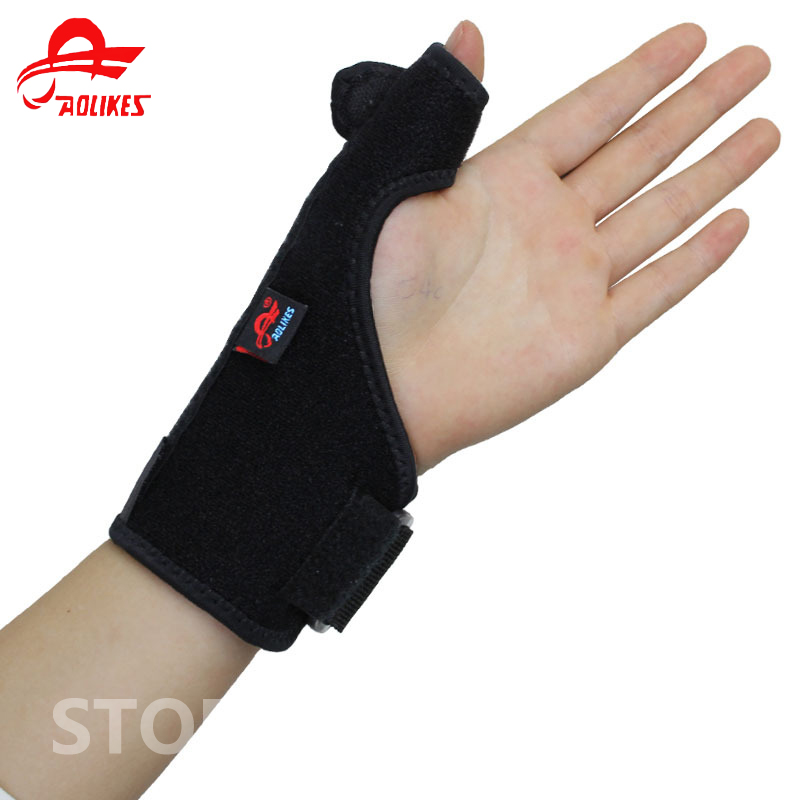 Adjustable Neoprene Wrist Support Thumb Brace Hand Pad For Sport Relieve Pain Men And Women adjustable sport magnetic keen protection pad brace black