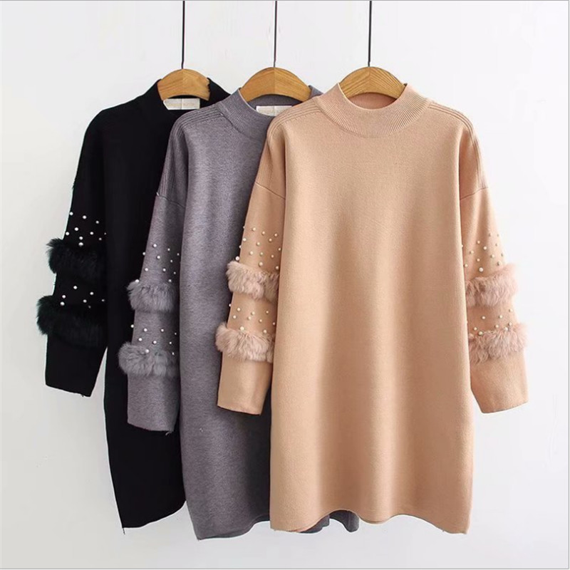 2019 Female Knitted O-neck New Fashion  Pullovers Long Sleeve Autumn And Winter Sweater