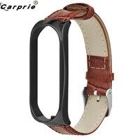 CARPRIE-Correa de cuero marrón informal para hombre, accesorio de repuesto para reloj inteligente Xiao Mi Band 3, correas para relojes 81119