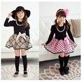 Primavera menina princesa vestido xadrez outono de manga comprida criança meninas de tutu vestido para 2 7 anos