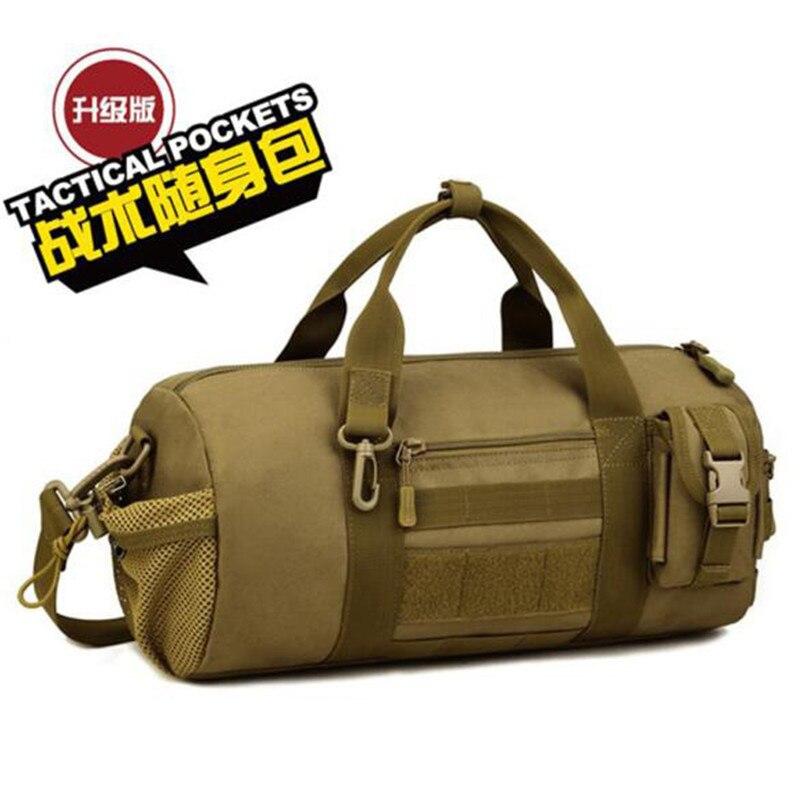경사 어깨 가방 핸드백 실린더 가방 배럴 가방 군사 애호가 대용량 남성 패키지 가방 방수 고급