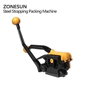 Image 2 - ZONESUN Portable A333 Buckle free Steel Strapping Tool Sealless Combination A333 Steel Strap Tool Manual Box Strapping Machine