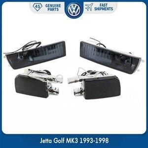 Пара противотуманных фар переднего бампера, дымовая линза, сигнальный светильник Светильник s для VW Volkswagen Jetta Golf MK3 93-1998
