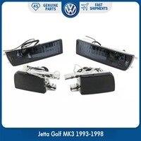 Pair Front Bumper Smoke Lens Fog Lamp Signal Light Lights for VW Volkswagen Jetta Golf MK3 1993 1998