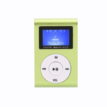 Portable Mini Practical USB Digital MP3 Player LCD Screen Support Micro SD TF Card Set with Earphone and Charging Cable