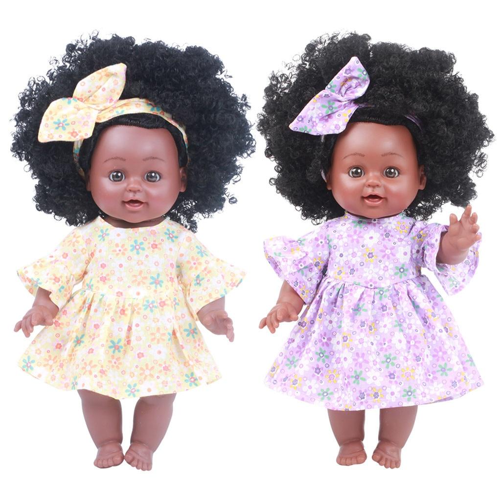 HIINST Girl Baby African Black Girl Lifelike 35cm Dolls Baby Toys For Kids Children Girls Boys Babies Body Play Vinyl Dolls
