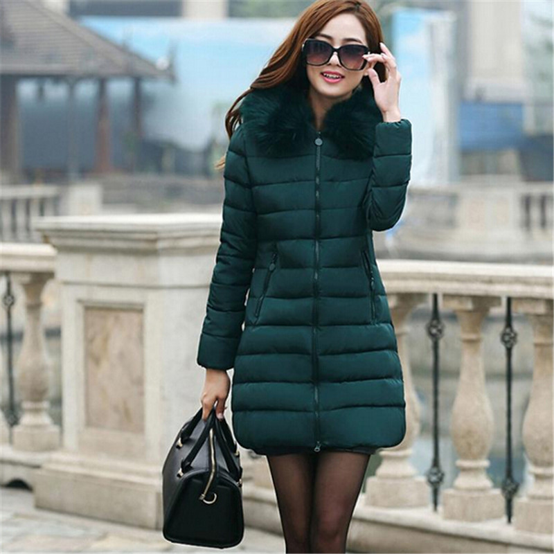 Women's Winter Coat New Parkas Female Thick Padded Cotton Long Outwear Plus Size Parka Casual Jacket Coat Women C1251 2017 new female warm winter jacket women coat thick down cotton parkas cotton padded long jacket outwear plus size m 3xl cm1394