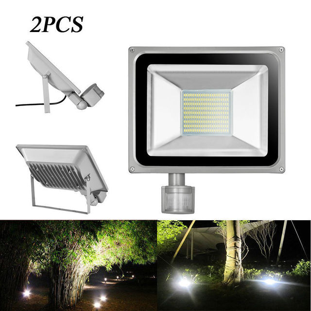2pcs pir led flood light motion sensor outdoor lighting 100w 2pcs pir led flood light motion sensor outdoor lighting 100w waterproof ip65 ac 110v 189led 5600lm mozeypictures Gallery