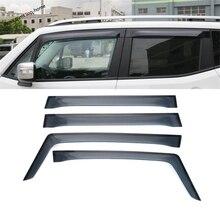 цена на Yimaautotrims Window Visors Awnings Wind Rain Deflector Visor Guard Vent Cover Exterior Trim Fit For Jeep Renegade 2015 - 2020