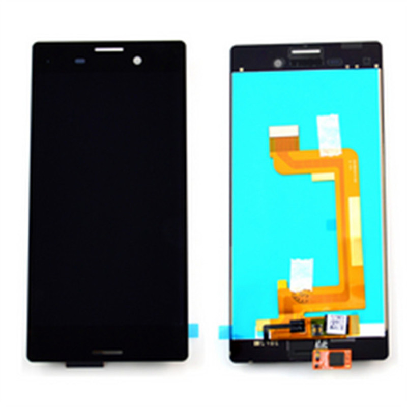 ФОТО 10pcs/lot 100% original LCD Display Screen touch Digitizer Assembly  For Sony Xperia M4 Aqua black