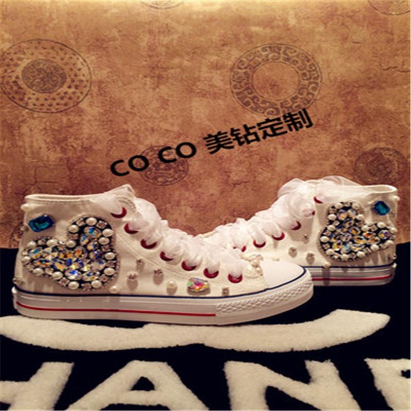 Ayuda 5 3 Lona Mano Alta Casuales Fondo Imitación Mujer 4 1 Con Zapatos De A Diamantes 5 Tendón Hecho Plataforma 2 APYXqHZWw5