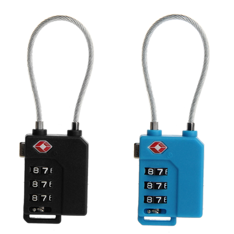 TSA Resettable 3 Digit Combination Lock Travel Luggage Suitcase Code Padlock new mini 3 digit resettable combination luggage suitcase lock padlock gray 05b