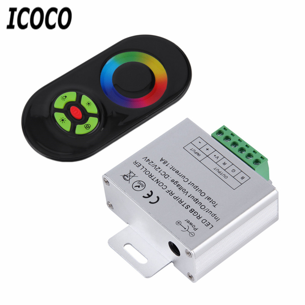 ICOCO 1ks RF Touch Panel Wireless 5 Keys Remote Controller DC 12V / 24V pro RGB LED Strip Light Promotaion Hot Sale za 11.11
