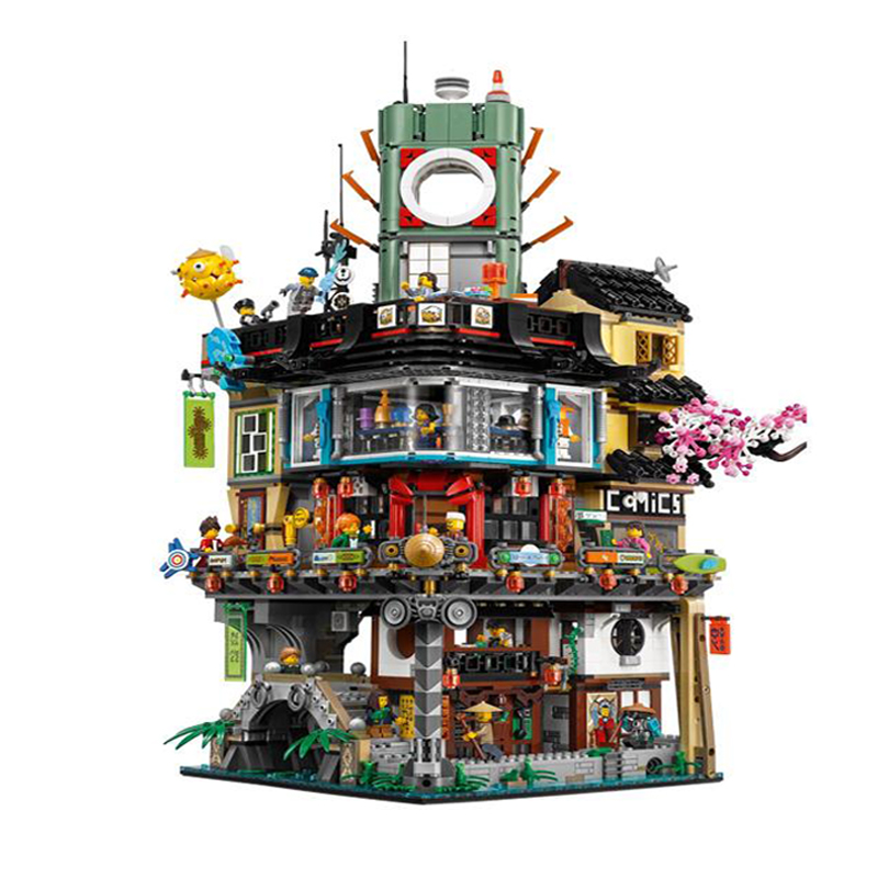 Lepin 06066 4953pcs Great Creator City Construction Model Modular Building Blocks Teenagers Toys Bricks Compatible for kids70620 a toy a dream lepin 15008 2462pcs city street creator green grocer model building kits blocks bricks compatible 10185