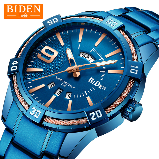 2019 Watch Men BIDEN Fashion Sport Quartz Mens Watches Top Brand Luxury Business