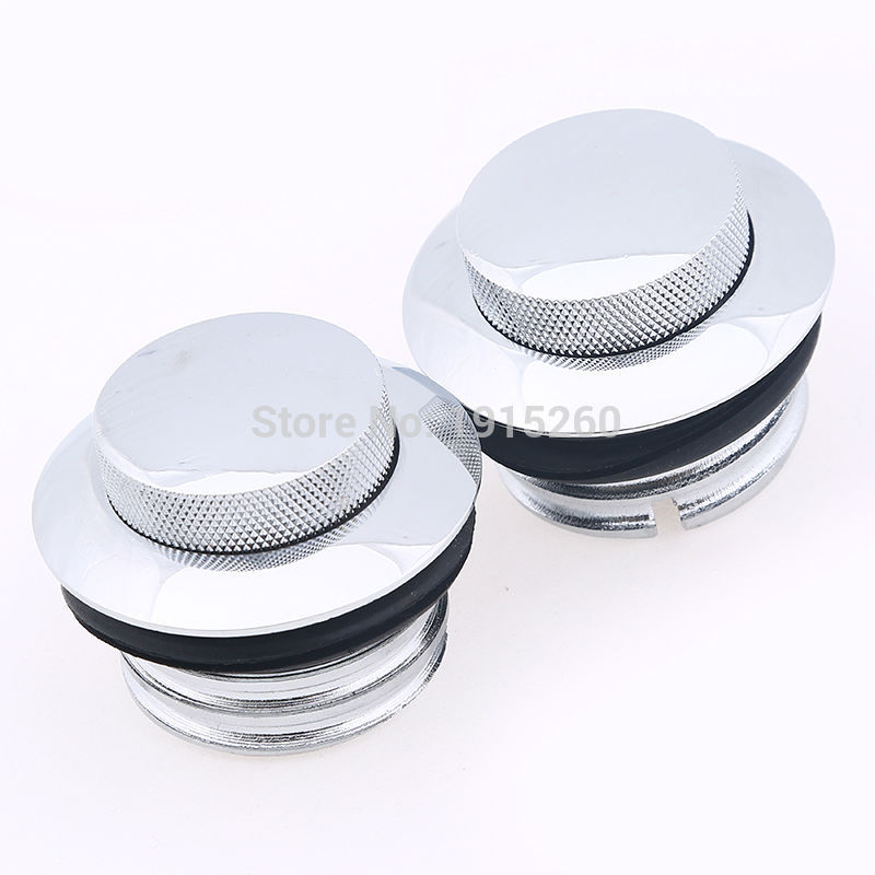 Pair Chrome Motorbike Pop Up Flush Gas Cap Vented Fuel TankCover For Harley Sportster 883 Iron XL883N 2010 86-16 Motorcycle brand new motorcycle cnc rc fuel tank gas cap fit for 1996 2014 harley sportster dyna touring softtail