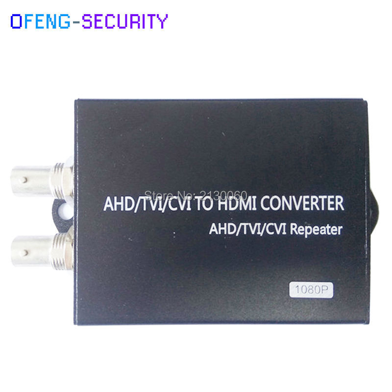 HDMI Converter With Loopback, AHD/CVI/TVI To HDMI Converter With 1ch LOOP , Video Converter, 1080p, AHD/CVI/TVI Repeater