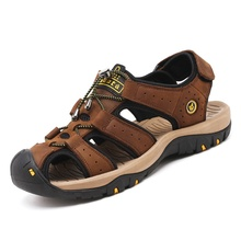2019 summer new beach mens sandals leather non-slip sports shoes casual