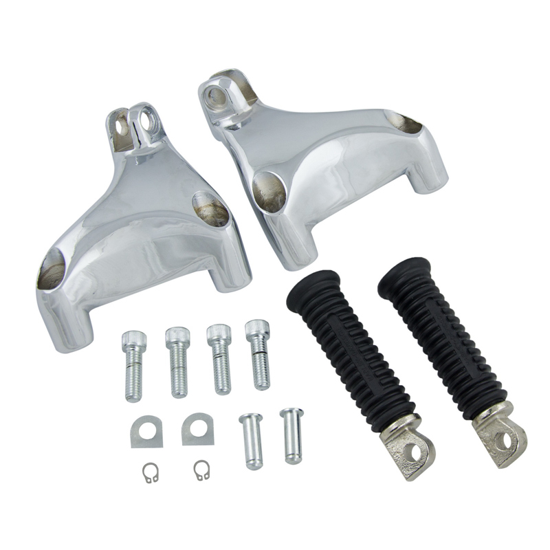 NICECNC Rear Passenger Foot Pegs Rests Footrests Pedals Mounting Kit For Harley SuperLow Sportster Seventy Two Iron Forty Eight