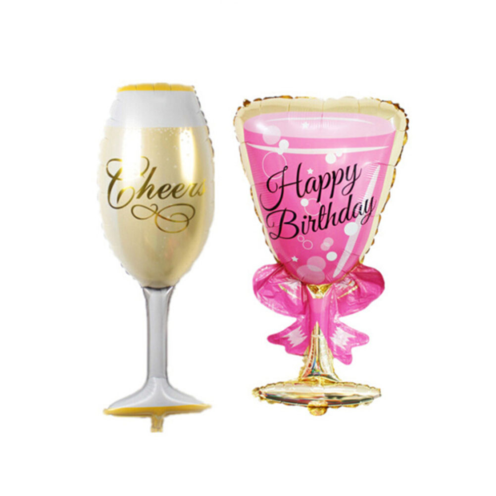 Hot 1pc Cute champagne Cheers Happy Birthday Wedding Celebrate ...