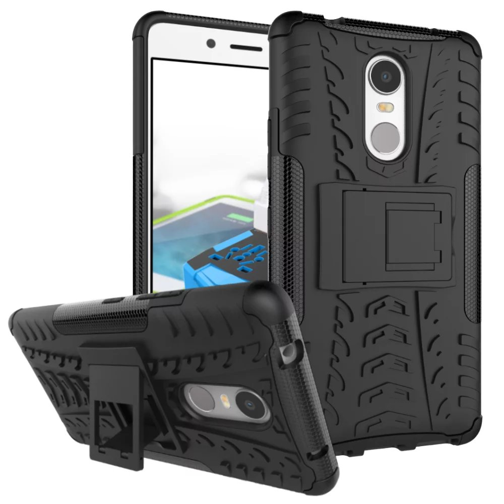 For Lenovo K6 Note Case Silicon Plastic Hard Hybrid Armor Back Cover Phone Bags Cases For Lenovo K6 Note Holder With Kickstand