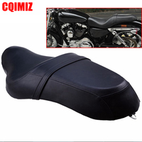 Motorcycle Saddle Seats Cushion Front Driver Rear Passenger Seat Leather PU Two Up For Harley Davidson Sportster XL 883 1200