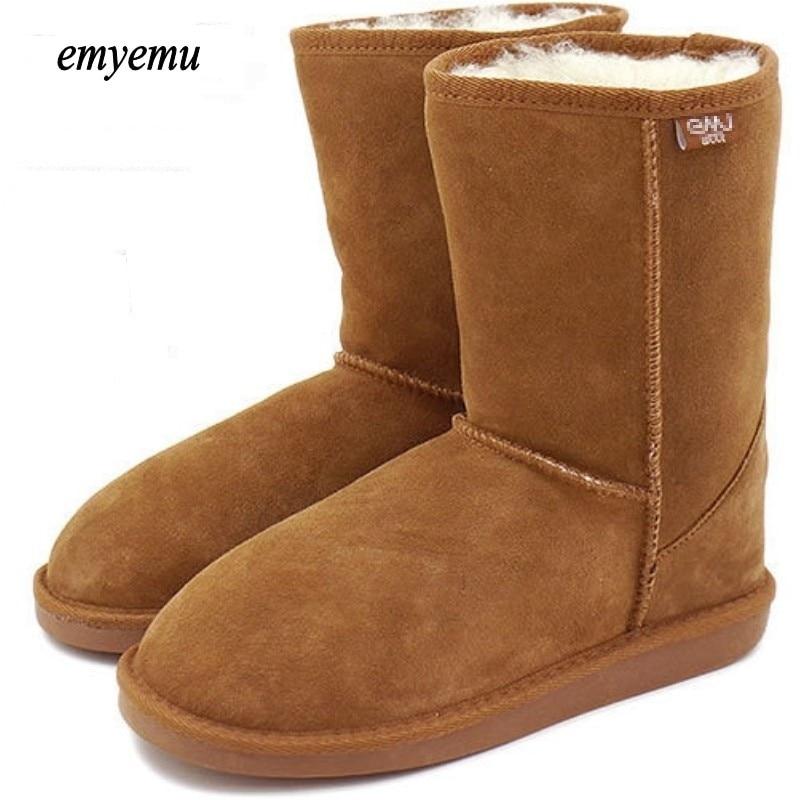 Australien EMYEMU Bronte LO (W20002) KUH-SUEDE 100% wolle innen Winter Schneeschuhe 5 farben 5825 bronte winter stiefel frauen stiefel