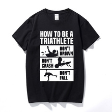 2001adfd How To Triathlon Funny T-shirt Tshirts Birthday Gift Present For Men  Husband Boyfriend Short