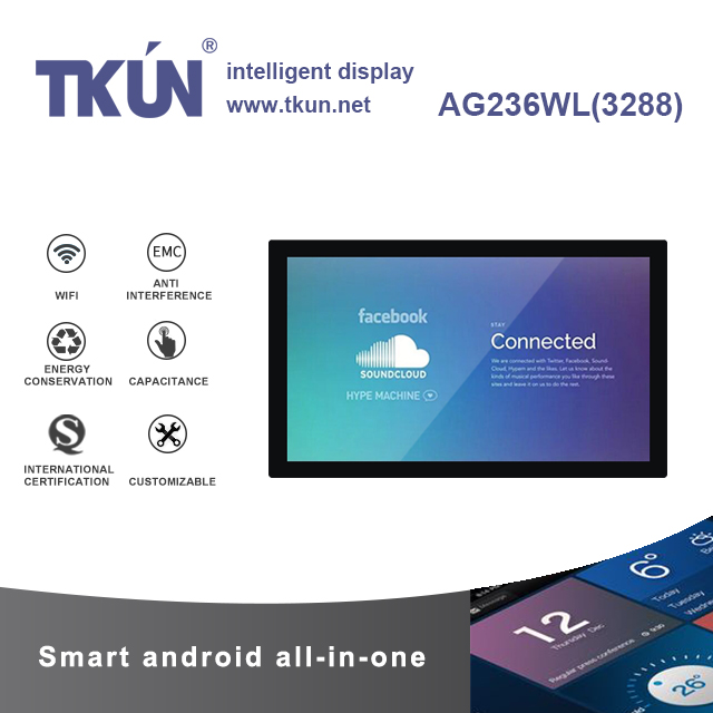 TKUN 23.6 Inch Android All-in-one. Capacitive Multi-touch ,Customizable, Industrial And Commercial Outdoor Display AG236WL(3288)