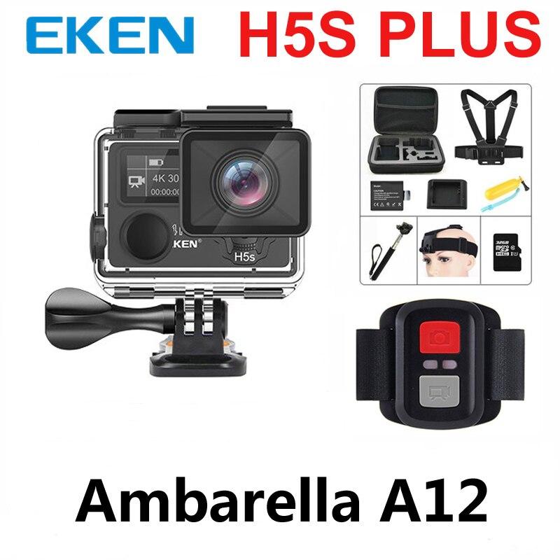 EKEN H5S Plus A12 Ultra 4 k 30FPS Wifi Camera Action 30 m étanche 1080 p aller EIS Stabilisation D'image ambarella 12MP pro sport cam