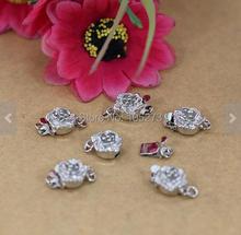 Купить с кэшбэком DIY Accessory Jewelry Making - Clasp Charm 5pcs Flat Round Buckle High Quality Buckle Silver Plated Beads 12mm