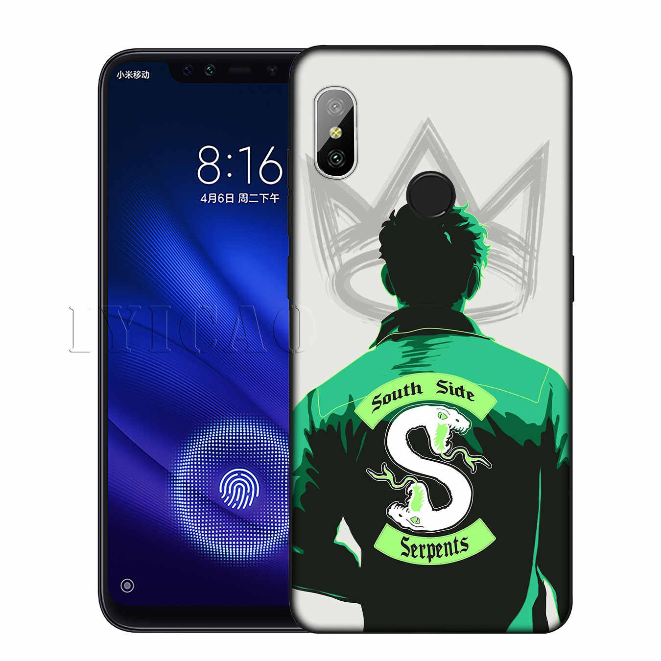 IYICAO Riverdale South Side Snake Cover Silicone Soft Case for Xiaomi Redmi 6A 5A Note 7 4 4X 5 Plus 6 Pro Black TPU Cover