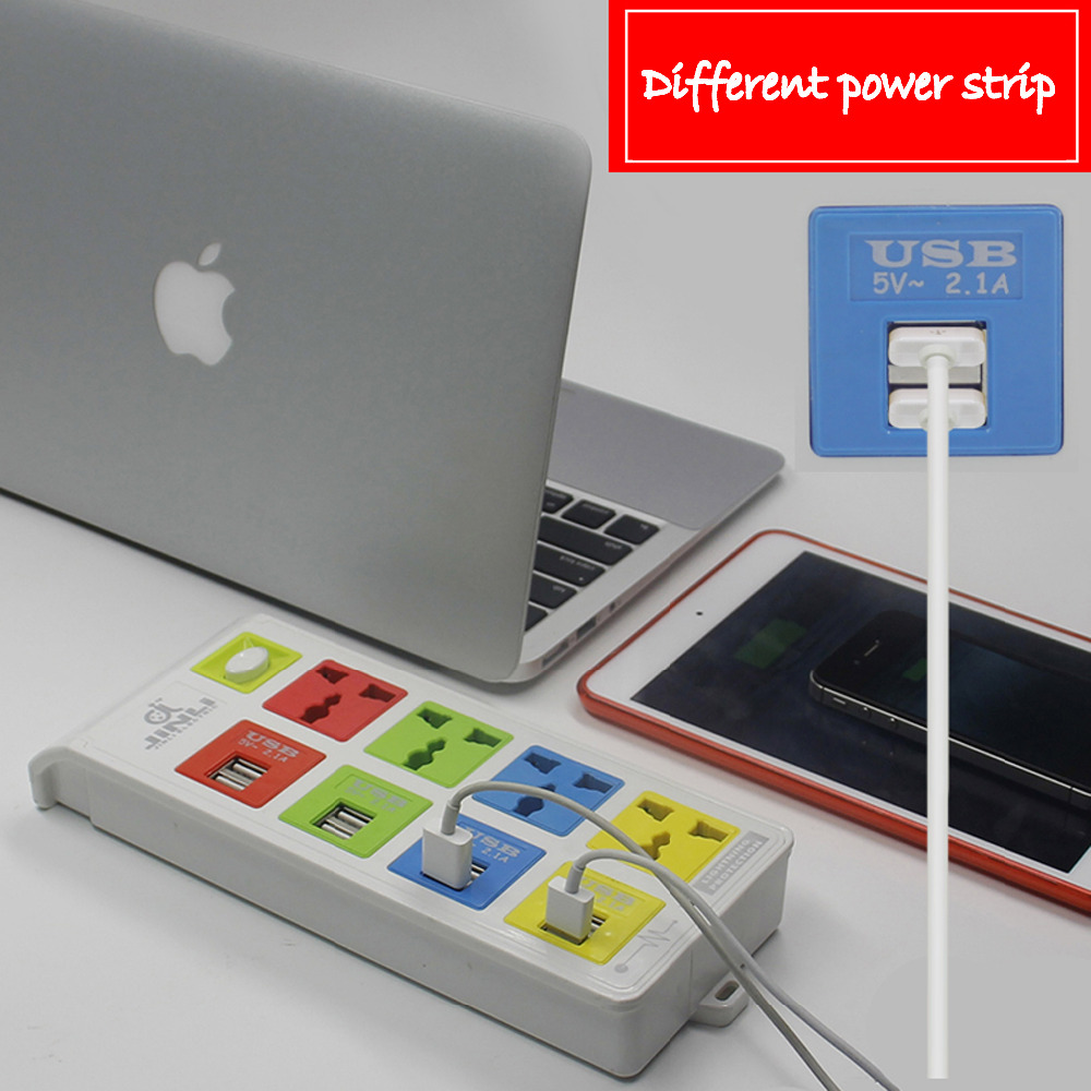 цена на BR IL AU EU US UK plug Universal Socket Conversion platooninsert 8 usb power strip