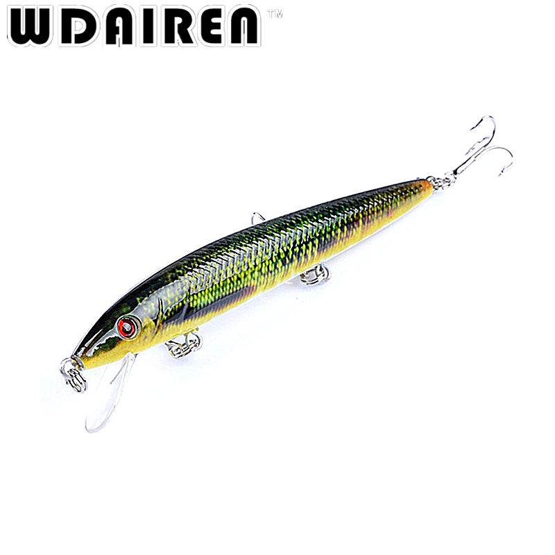 1Pcs Crank bait Floating Minnow 12cm 13.7g Fishing Lure Laser Painted Hard Artificial Bait 3D Eyes Wobblers Crankbait Minnows wldslure 1pc 54g minnow sea fishing crankbait bass hard bait tuna lures wobbler trolling lure treble hook