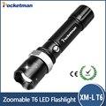 Горячая E17 XM-L T6 3800LM Алюминиевый Водонепроницаемый Масштабируемые cree СВЕТОДИОДНЫЙ Фонарик Факел свет для 18650 или ААА Батареи