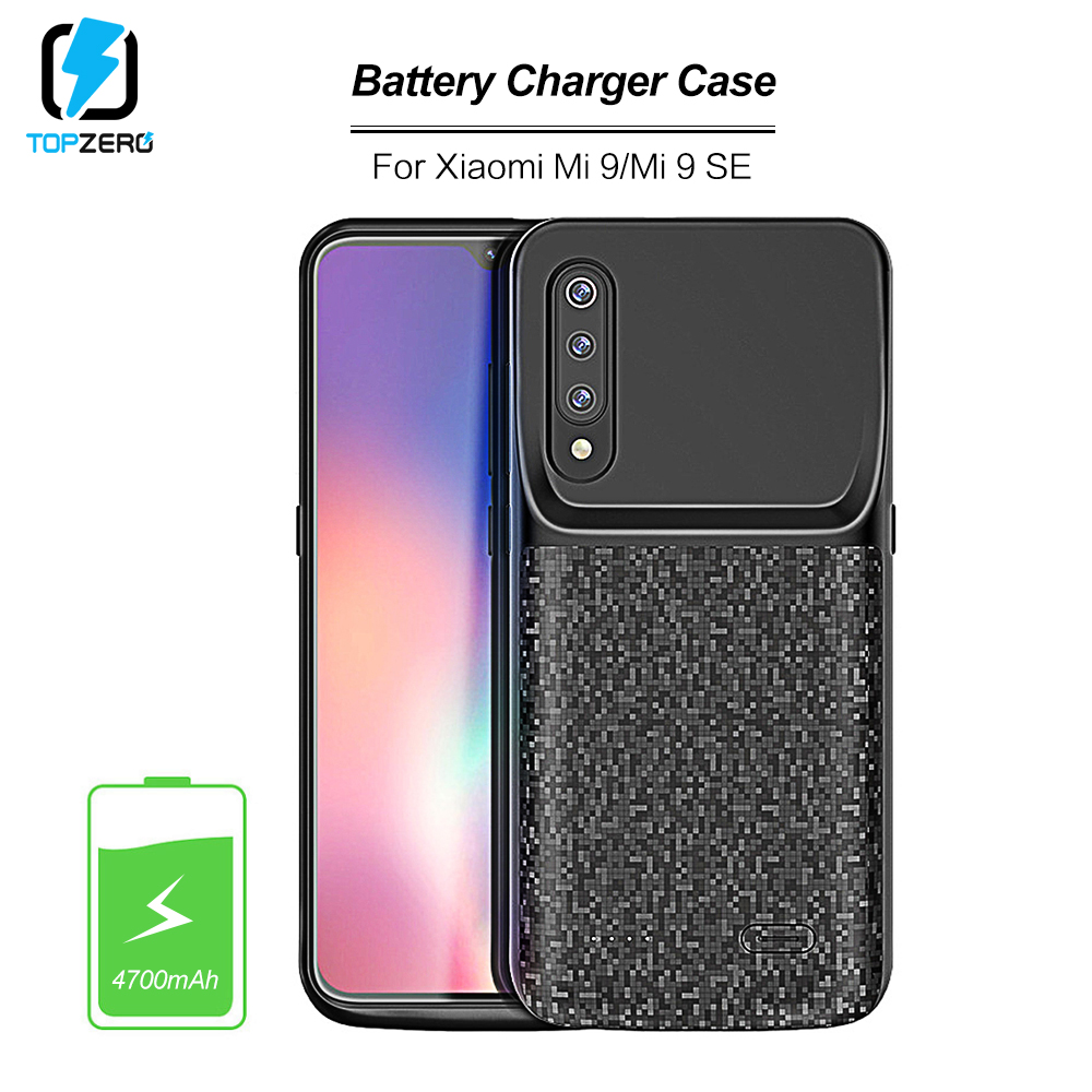 4700mah Battery Charging Case For Xiaomi Mi 9 Ultralight External Portable Powerbank Battery Case For Xiaomi Mi 9se Charger Case