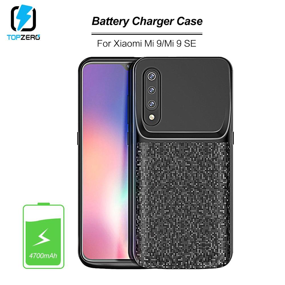 4700mah Battery Charging Case For Xiaomi Mi 9 Ultralight External Portable Powerbank Battery Case For Xiaomi Mi 9se Charger Case