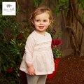 DB4386 дэйв белла весна новорожденных девочек dots печатных кружевном платье последние милые мода платье розовое платье