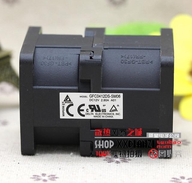 4 CM GFC0412DS 4056 2.80A 12 V dual motor turbo ventilador violento