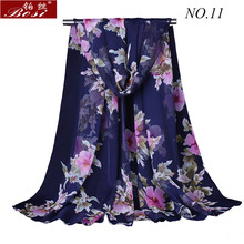 silk Scarf print Shawls for women wraps bandana ladies Fashion wrap Floral scarfs Hijab cape female stoles muslim bosi