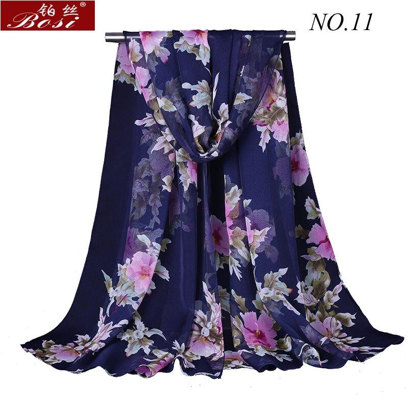 silk   Scarf   print Shawls for women   wraps   bandana ladies Fashion   wrap   Floral scarfs Hijab cape female stoles muslim   wrap   bosi