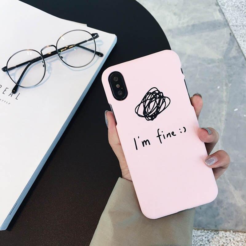 Texto simples moda quebrar-resistente caso de telefone para o iphone 6 6s 7 8 Tendência metade do pacote de telefone celular de luxo caso para o iphone X XS XR MAX