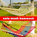 Vacation Sunny cotton rope nets mesh Hammock outdoor woods camping swing army single/double hammock casual 150kg bearing cot bed