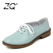 Обувь для женщин 2017 г. женская обувь из натуральной кожи на плоской подошве 4 Цвета лоферы на шнуровке женские туфли на плоской подошве Мокасины P005