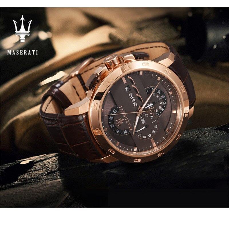 Maserati модные механические часы для мужчин Топ Дизайн Роскошные водостойкие часы для мужчин подарок механические часы Montre Homme 8821108001