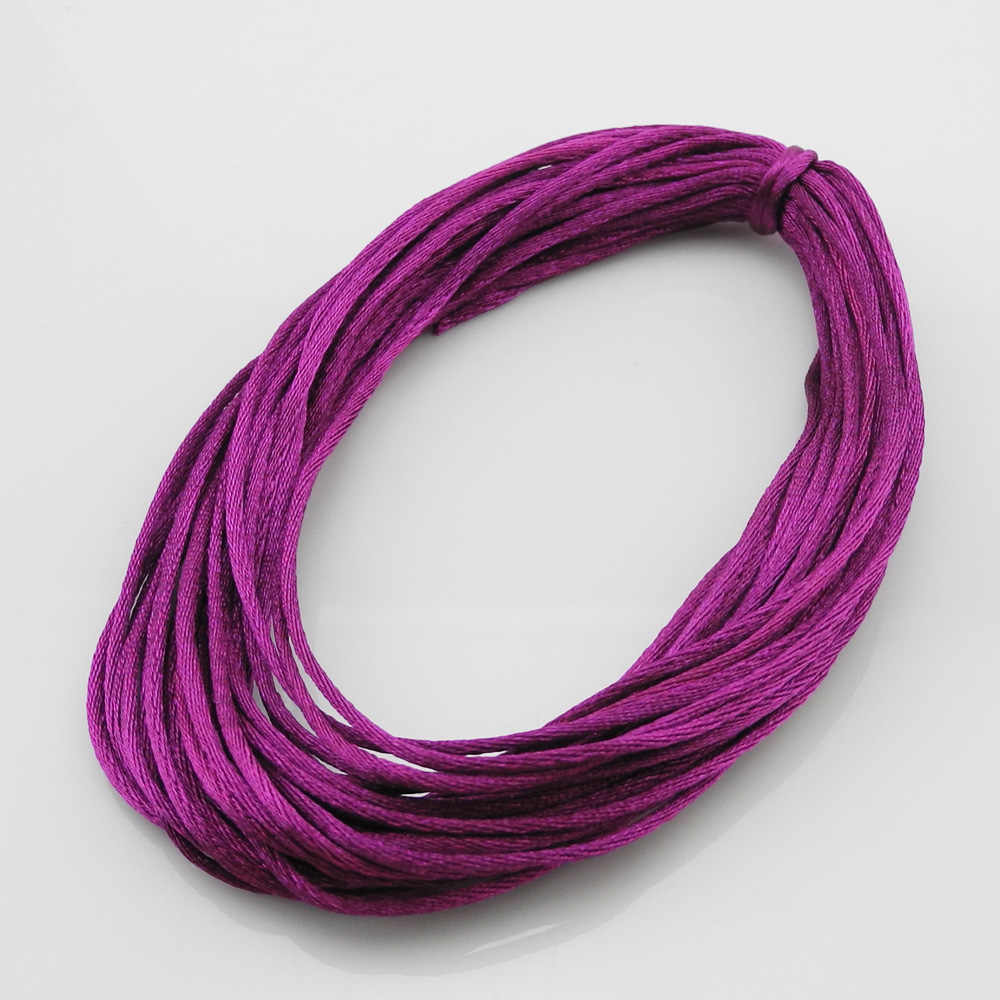 5m Gold Rattail satin cord 2mm teething DIY necklace baby jewellery Nylon cord