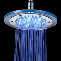 Luxury Bathroom LED Shower Heads Color Changes Shower Faucet Temperature Controlled Led Shower Head Polished Design LD8030 A4