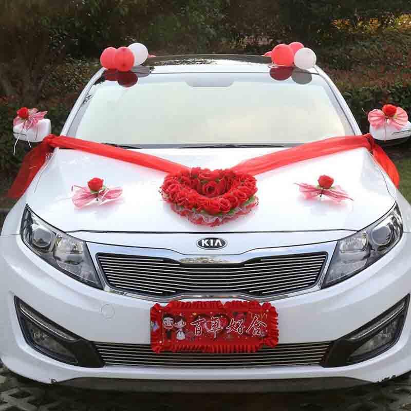 Artificial flowers for car decoration silk flower diy for Automobile decoration accessories